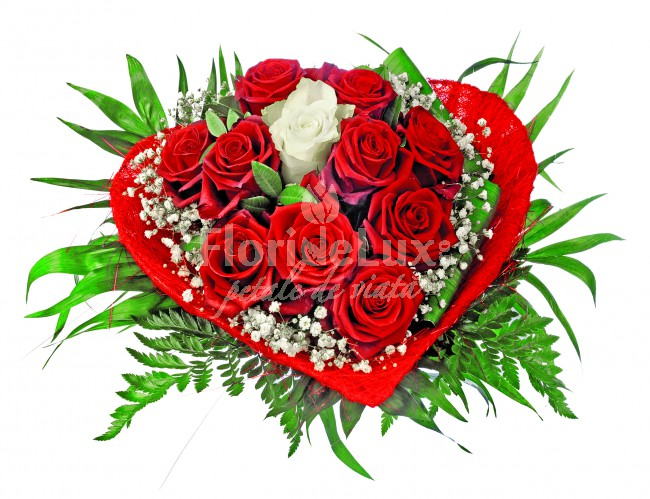 buchete inima de sfantul valentin