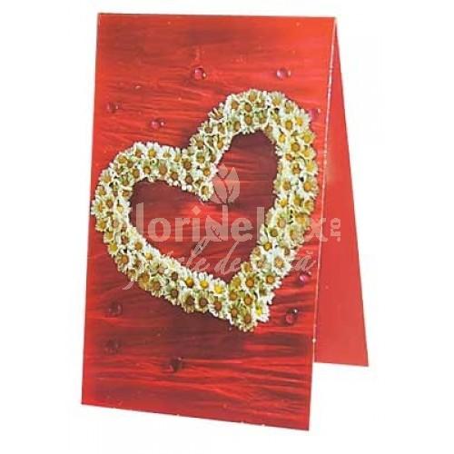 felicitare sfantul valentin inima romantica
