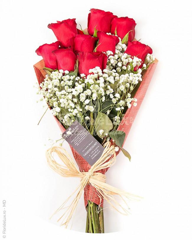 flori sfantul valentin trandafiri rosii