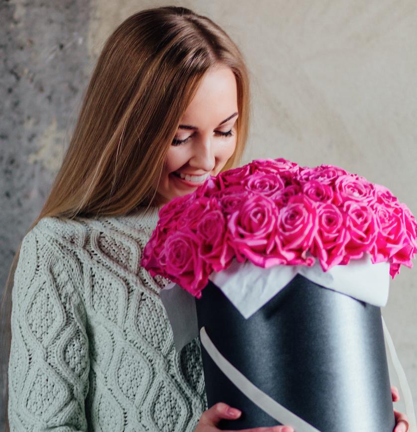 Cutii cu flori Sfantul Valentin
