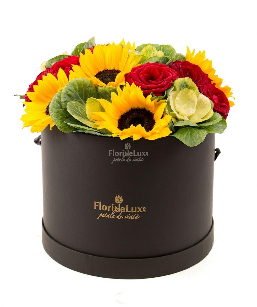 flori de lux, cutie cu flori