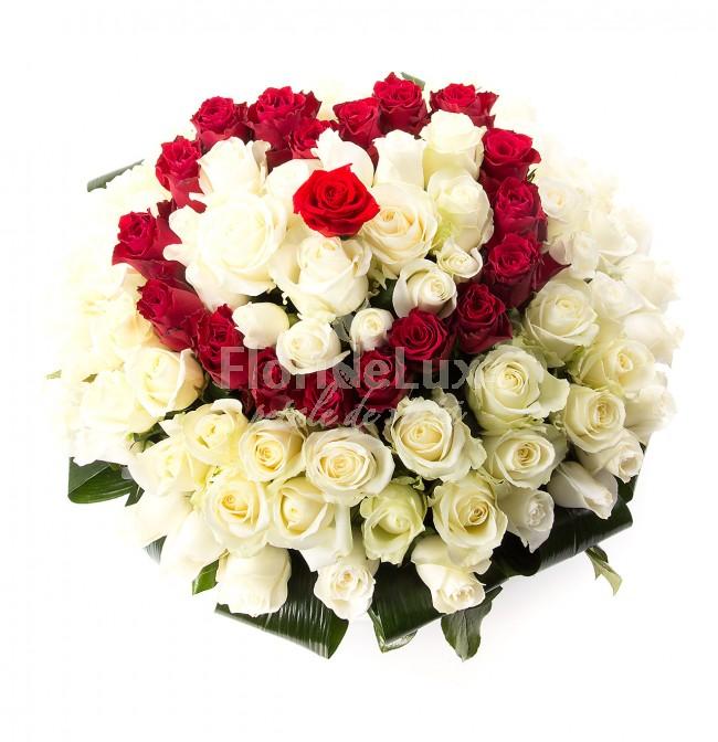 Trandafiri albi pentru Ziua Indragostitilorc vd