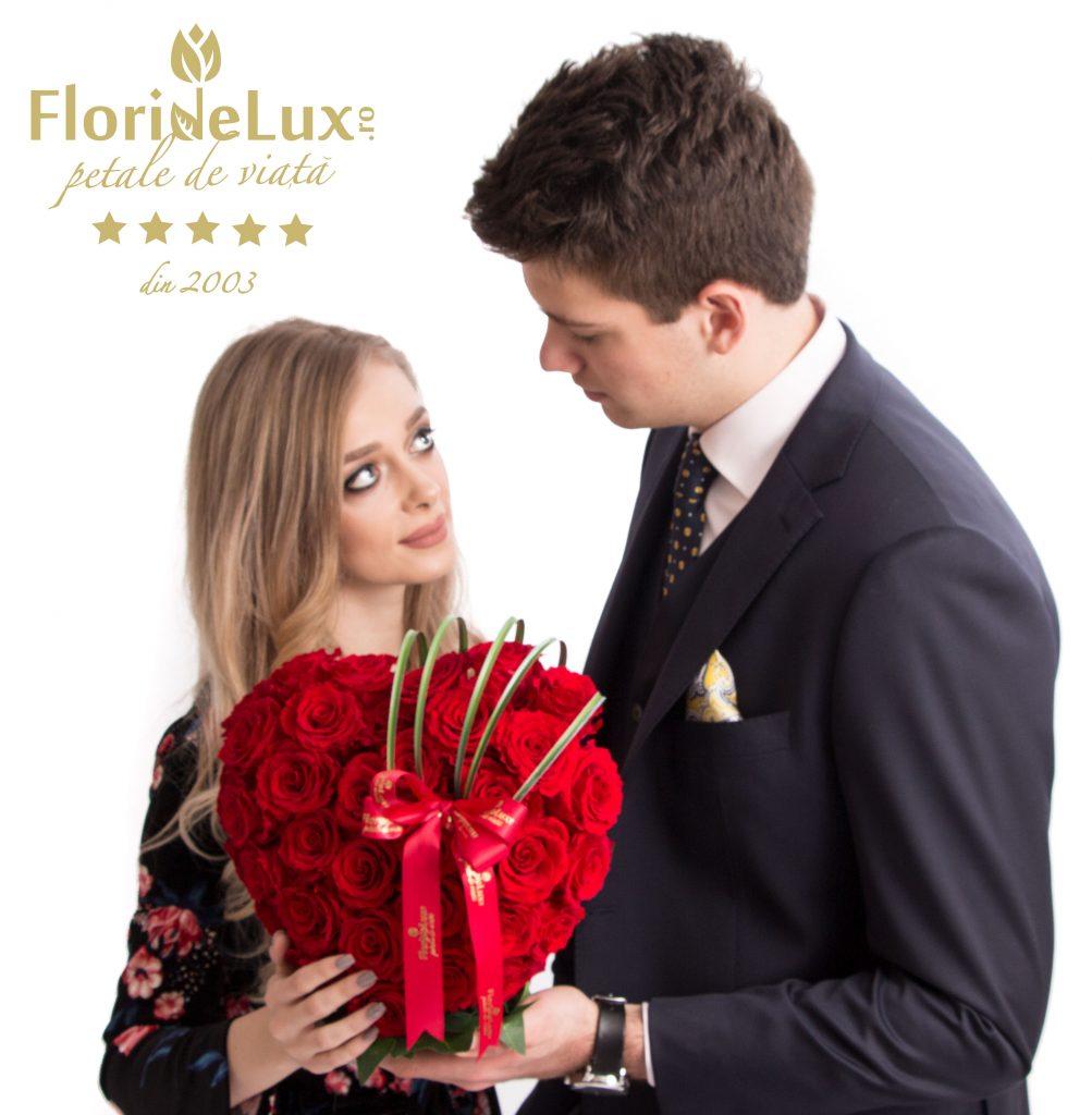 inima trandafiri, inimi de flori